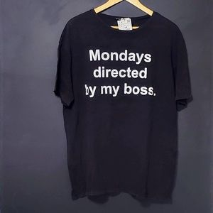 """Zara """"Mondays are Directed by my Boss"""" T-shirt"""